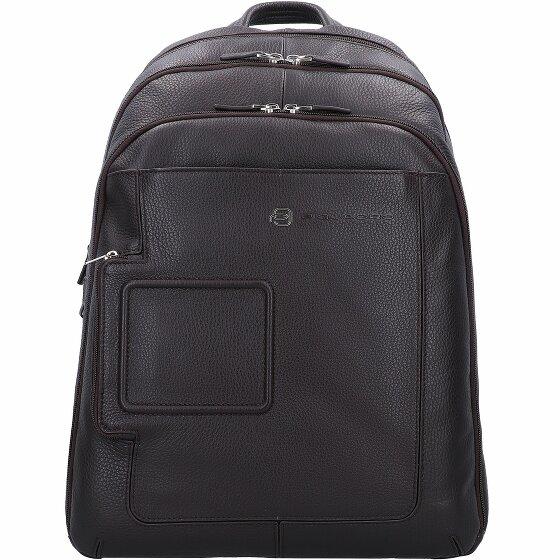 Piquadro Vibe Businessrucksack Leder 43 cm Laptopfach dark brown OUTCA1813VI-TM