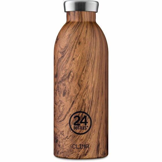 24Bottles Wood Clima Trinkflasche 500 ml sequoia wood 84-sequoiawood
