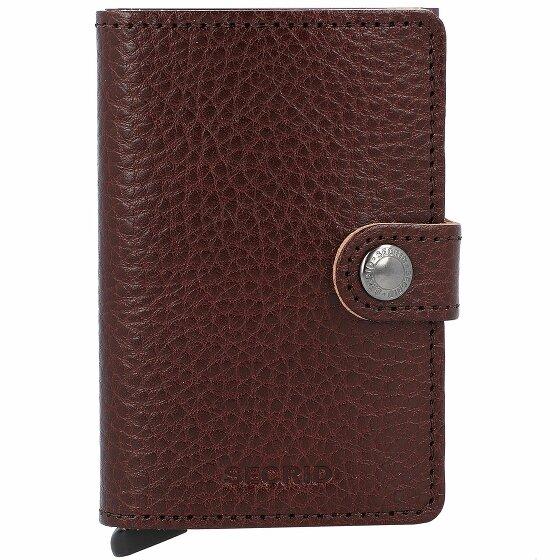 Secrid Miniwallet Vegetable Kreditkartenetui RFID Leder 6,5 cm espresso-brown MVg-EspressoBrown