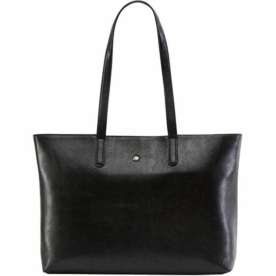 Jekyll & Hide Madrid Shopper Tasche RFID Leder 39 cm Laptopfach black 6336MABL