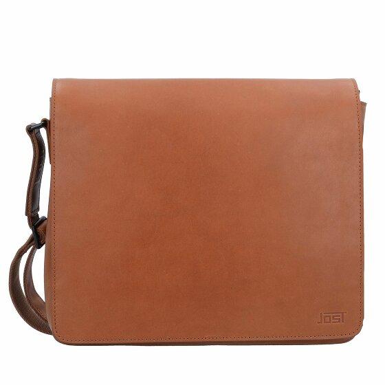 Jost Futura Umhängetasche M Leder 32 cm Laptopfach cognac JOS-8644-007