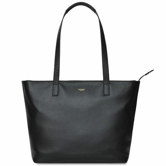 Knomo Mayfair Luxe Shopper Tasche RFID Leder 41 cm Laptopfach black 120-207-BLK