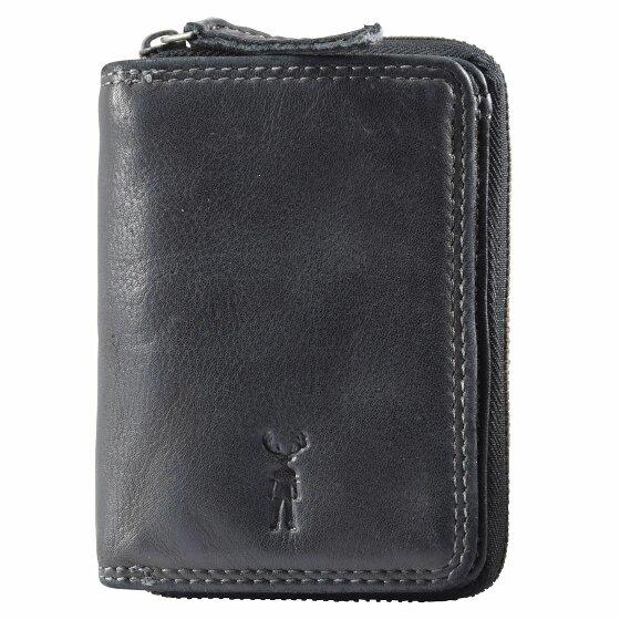 Jack Kinsky Wellington 110 Geldbörse Leder 8.5 cm schwarz wellington110-900