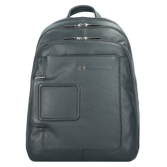 Piquadro Vibe Businessrucksack Leder 43 cm Laptopfach blau OUTCA1813VI-BLU2