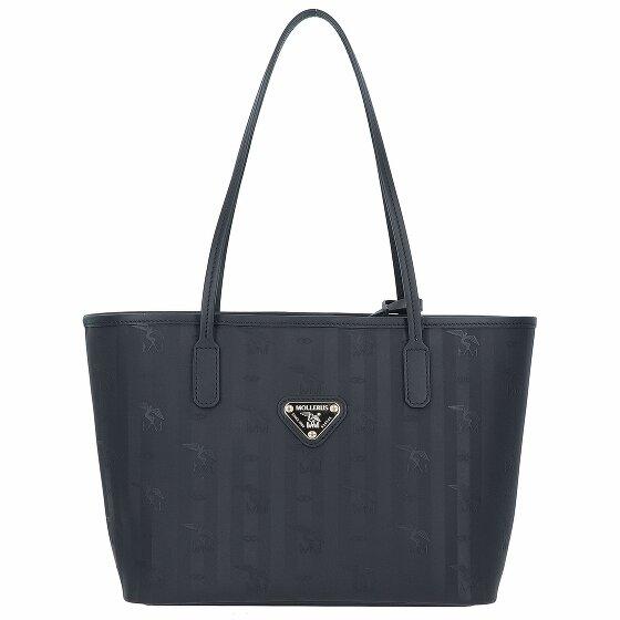 Maison Mollerus Genf Shopper Tasche 28 cm black/gold 01-2539-1018