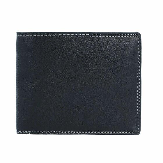 Jack Kinsky Wellington 101 Geldbörse Leder 12.5 cm schwarz wellington101-900