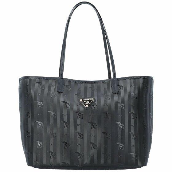 Maison Mollerus Bern Shopper Tasche 34 cm black / gold 01-2545-1018