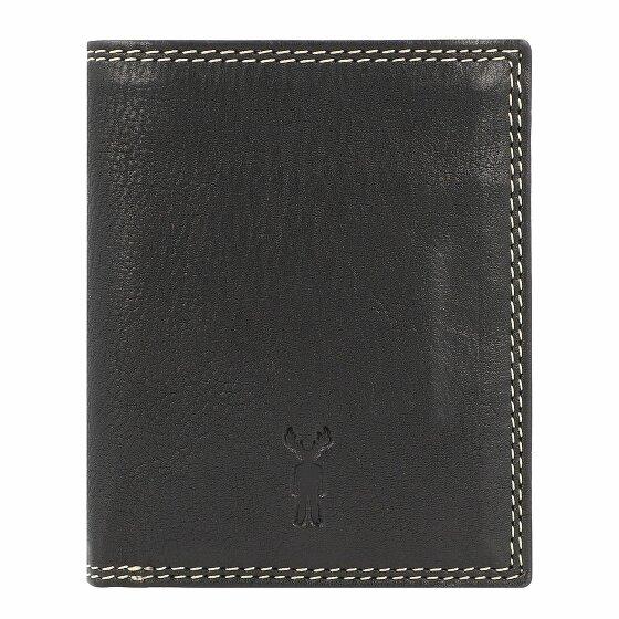 Jack Kinsky Wellington 105 Geldbörse Leder 8 cm schwarz Wellington 105-900