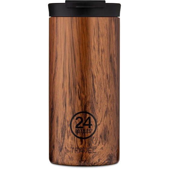 24Bottles Wood Travel Trinkbecher 600 ml sequoia wood 438-sequoiawood