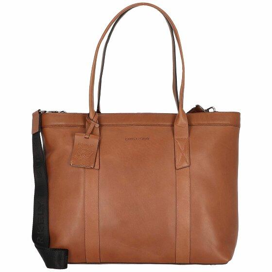 Burkely Suburb Seth Shopper Tasche Leder 45 cm Laptopfach cognac 1000086-75-24