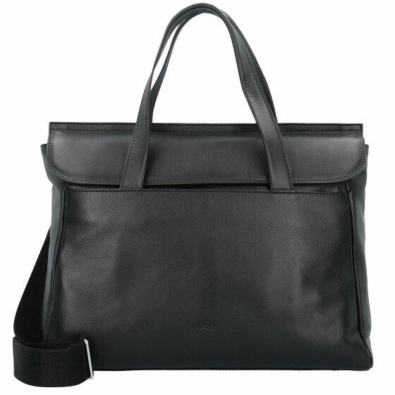 Bree Stockholm 45 Handtasche Leder 38 cm Laptopfach black 184-900-045