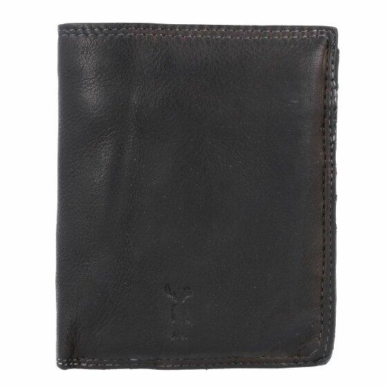 Jack Kinsky Wellington 100 Geldbörse Leder 10 cm schwarz wellington100-900