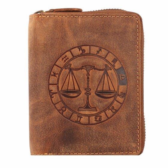Greenburry Vintage Sternzeichen Geldbörse Leder 10 cm waage 821A-waage