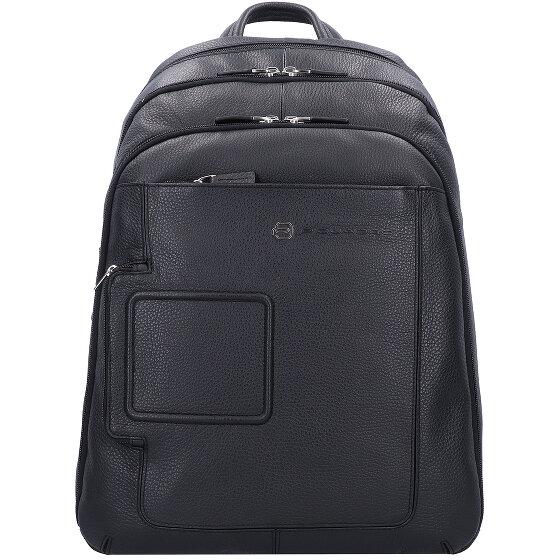 Piquadro Vibe Businessrucksack Leder 43 cm Laptopfach black OUTCA1813VI-N