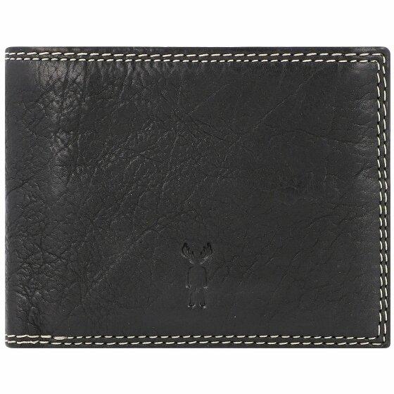 Jack Kinsky Wellington 109 Geldbörse Leder 11.5 cm schwarz wellington109-900